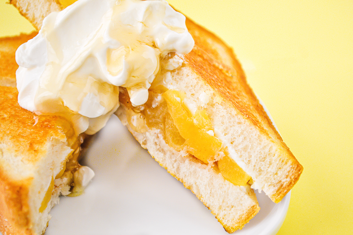 apple pie grilled sandwich, an easy breakfast recipe
