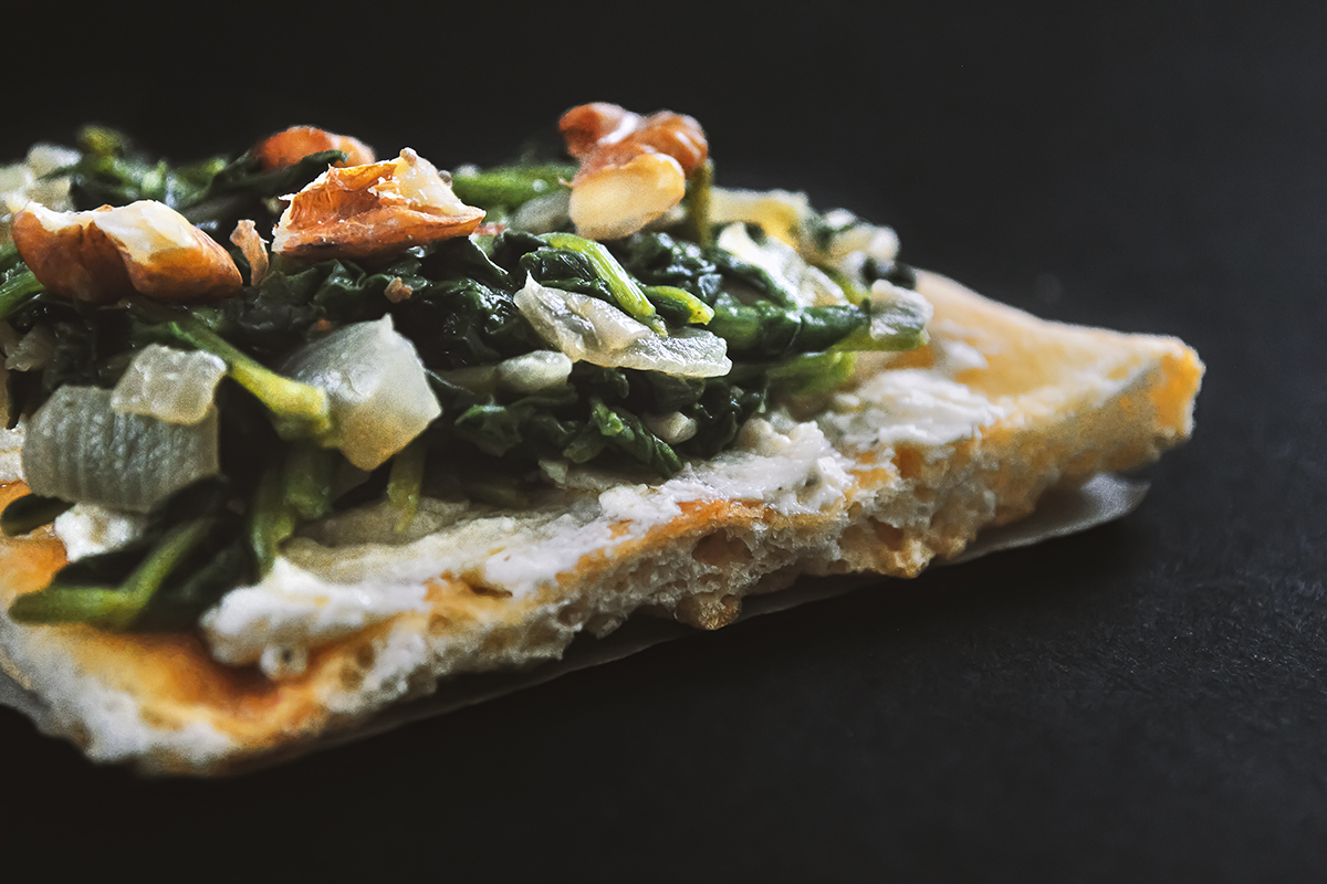 how to make spinach pizza